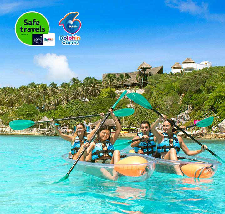 Adventure in Cancún, Isla Mujeres: Kayaks | Garrafon Park
