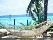 Hammock with view of the Caribbean