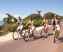 Bicycle Tour in Garrafon Park, Cancun, Isla Mujeres