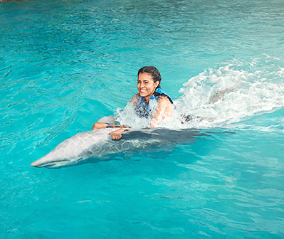 Swim with dolphins in Garrafon Park, Cancun, Isla Mujeres