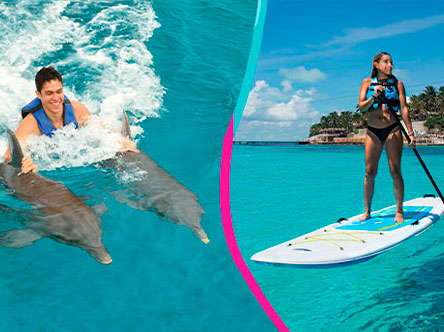 Royal Garrafon VIP + Dolphin Royal Swim Package in Garrafon Park, Cancun, Isla Mujeres