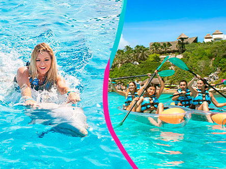 Royal Garrafon + Dolphin Swim Adventure  Package in Garrafon Park, Cancun, Isla Mujeres
